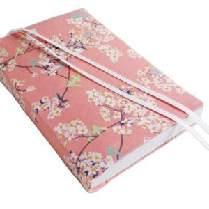 "6"" Paperback Book Cover CHERRY BLOSSOM Stretch Fabric Trade Size Paperback"