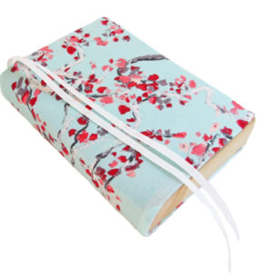"""5"""" Stretch Book Cover Blue Blossoms Floral Book Covers Fabric Paperback Cover Trade Size"""