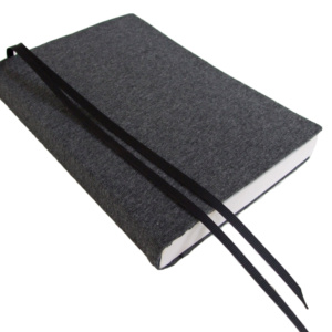 """Paperback Book Cover DARK GREY HEATHER Stretch Fabric Book Sleeve 6"""" Trade Size"""